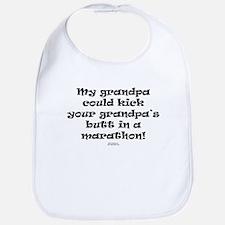 grandpa kick grandpa's butt Bib