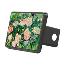 PC VG Pink Roses Rectangular Hitch Cover
