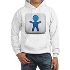 matte-blue-and-white-square-icon Hoodie