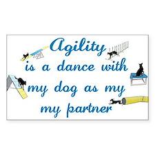 Agility Dance Rectangle Decal