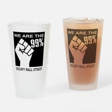 We are the 99 percent OCCUPY WS Drinking Glass