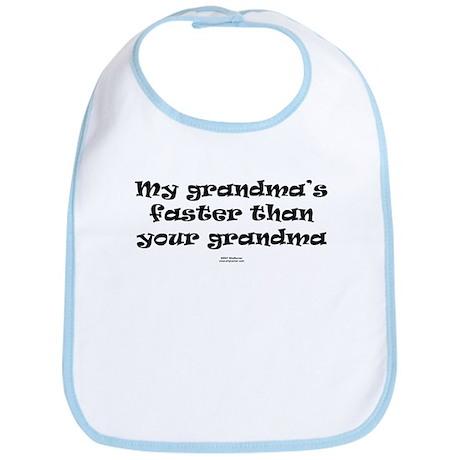grandma faster than grandma Bib