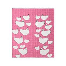 flipflops-chick2 Throw Blanket