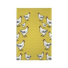 flipflops-chick4 Rectangle Magnet