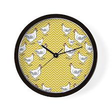 flipflops-chick4 Wall Clock