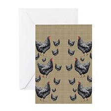 flipflops-chick6 Greeting Card