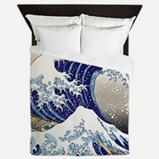 Hokusai_Great_WaveShowerCurtain2 Queen Duvet