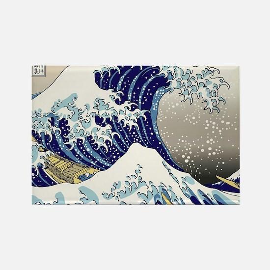 Hokusai_Great_WaveShowerCurtain2 Rectangle Magnet