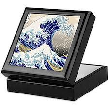 Hokusai_Great_WaveShowerCurtain2 Keepsake Box