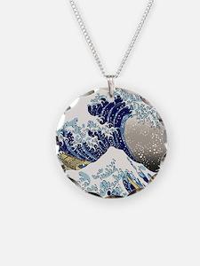 Hokusai_Great_WaveShowerCurt Necklace