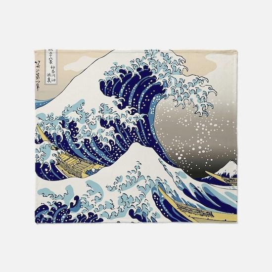 Hokusai_Great_WaveShowerCurtain2 Throw Blanket