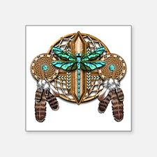 "Labradorite Dragonfly Dream Square Sticker 3"" x 3"""