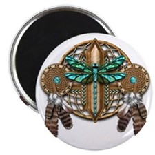 Labradorite Dragonfly Dreamcatcher Magnet