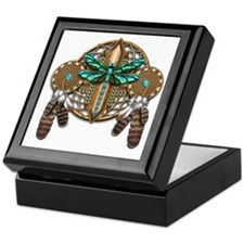 Labradorite Dragonfly Dreamcatcher Keepsake Box