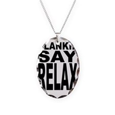 blankeysayrelax Necklace Oval Charm