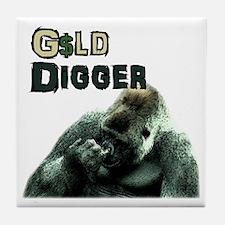 Male Gold Digger Tile Coaster