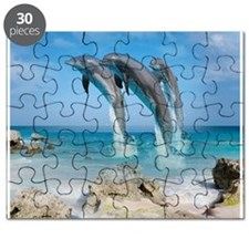 Dolphin Jump Tiles Puzzle