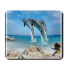 Dolphin Jump Tiles Mousepad