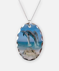 Dolphin Jump Tiles Necklace