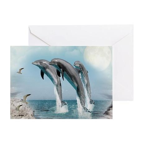 dolphin jump mousepad Greeting Card