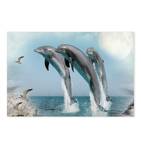 dolphin jump mousepad Postcards (Package of 8)
