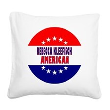 RoundButtonsMagnetsRebeccaKle Square Canvas Pillow