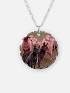 australian kelpie two Necklace