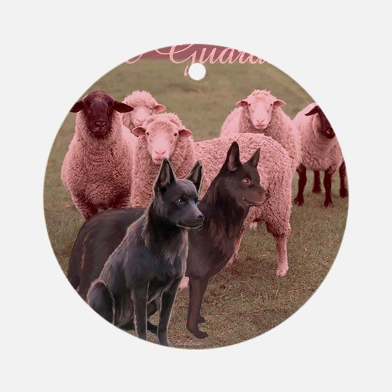 australian kelpie two Round Ornament