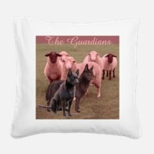 australian kelpie two Square Canvas Pillow