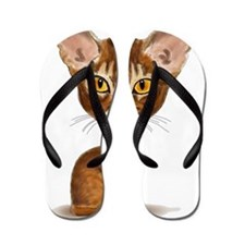 caricature_aby_transparent Flip Flops