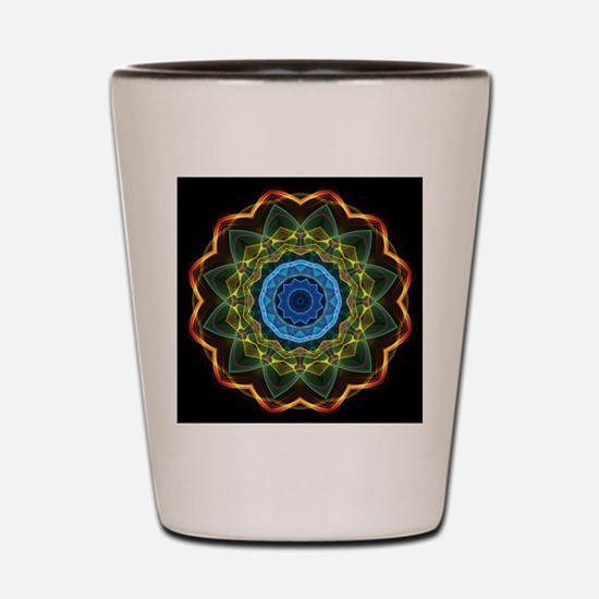 Sky and Leaves Kaleidoscope Shot Glass