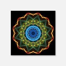 """Sky and Leaves Kaleidoscope Square Sticker 3"""" x 3"""""""