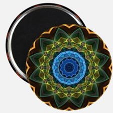 Sky and Leaves Kaleidoscope Magnet