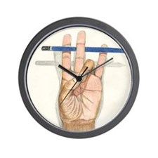 ART_ArtistsHand--GONZALEZ DELEON 001 Wall Clock