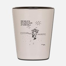 1291_running_cartoon Shot Glass