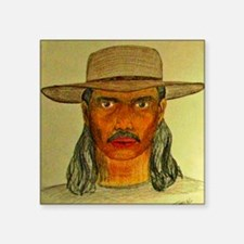 "ART_SelfPortrait--GONZALEZ  Square Sticker 3"" x 3"""