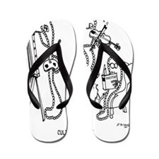 4677_jewelry_cartoon Flip Flops