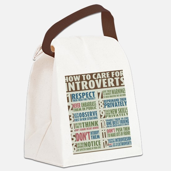 Introvert Canvas Lunch Bag