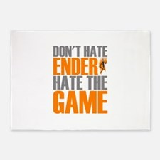 Don't Hate Ender, Hate the Game 5'x7'Area Rug