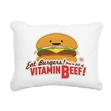 Vitamin Beef Burger Rectangular Canvas Pillow