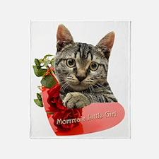 Gray Kitten Mommas Girl Throw Blanket