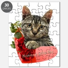 Gray Kitten Mommas Girl Puzzle