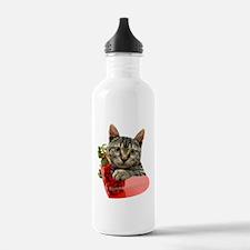Gray Kitten Mommas Gir Water Bottle