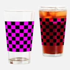 showercurtainpinkcheckerboardpng Drinking Glass