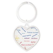favorite words Heart Keychain