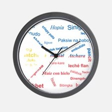 favorite words Wall Clock