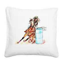 96x96_barrelracer Square Canvas Pillow
