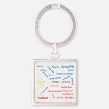 favorite words Square Keychain