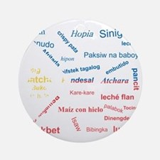 favorite words Round Ornament