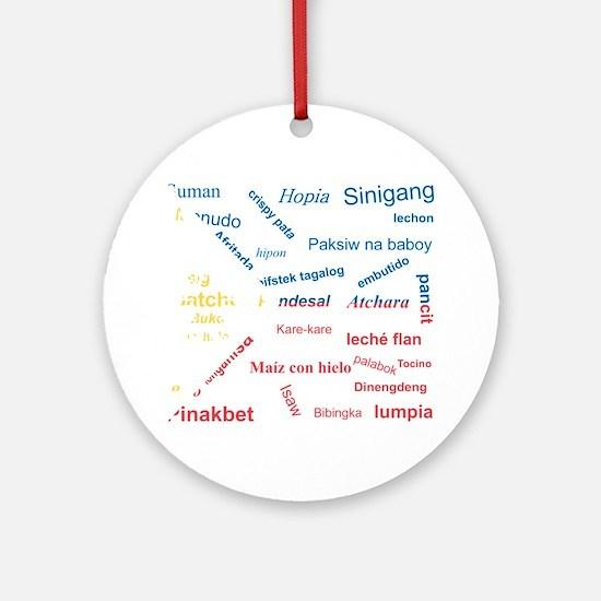 favorite words Round Ornament
